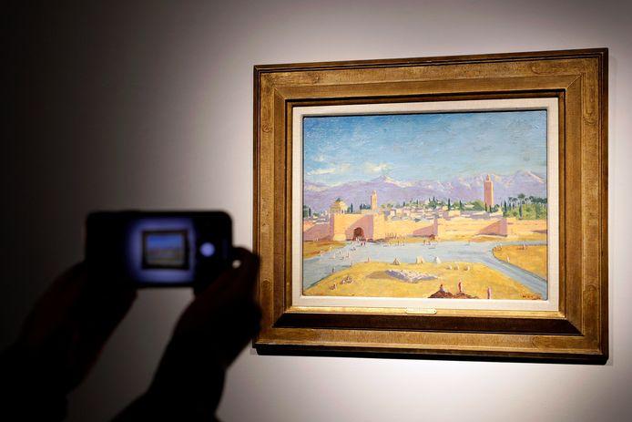 """Le tableau """"Tour de la mosquée de la Koutoubia"""""""