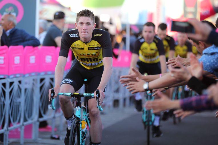 ► Jurgen Van den Broeck was onze laatste echte ronderenner. Maar in deze Giro moet hij knechten voor Steven Kruijswijk. Beeld TDW