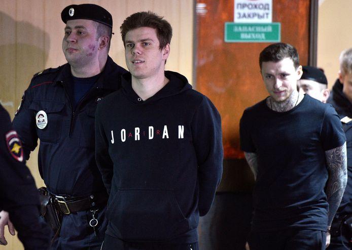 Aleksandr Kokorin zat van oktober 2018 tot september 2019 in een Russische gevangenis na mishandeling van twee personen samen met zijn Pavel Mamajev (rechts op deze foto).
