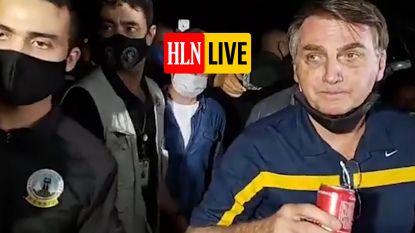 HLN LIVE. Braziliaans president Bolsonaro lapt coronamaatregelen weer aan zijn laars
