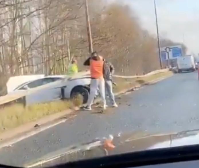 Sergio Romero crashte met zijn Lamborghini