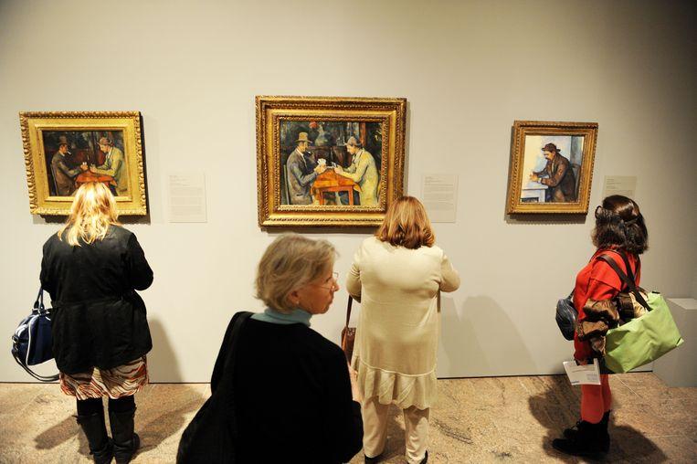 'De Kaartspelers' van Paul Cézanne. Beeld AFP