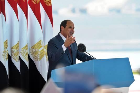 Al-Sisi bij de opening.