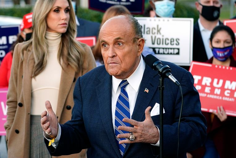Rudy Giuliani, Trumps advocaat. Beeld AP