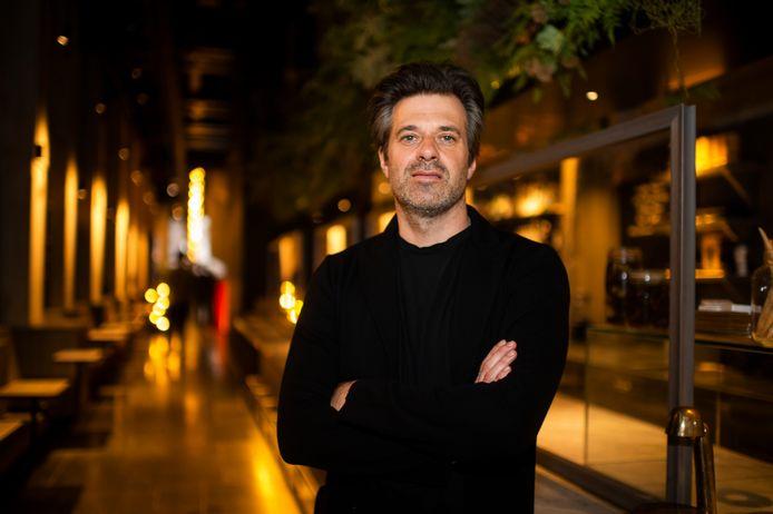 Sergio enkele maanden geleden in zijn Antwerpse sterrenrestaurant Le Pristine, eigendom van de bekende mode- en ondernemersfamilie Dheedene.