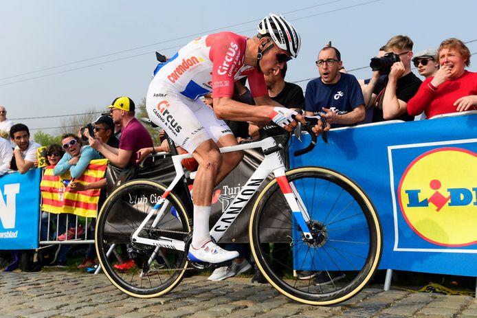 Van der Poel in actie in de Ronde van Vlaanderen twee jaar geleden.