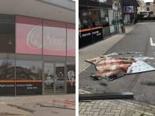 Storm Dennis in Zeeland: N57 dicht door wateroverlast, raam waait uit friettent en meerdere daken kapot