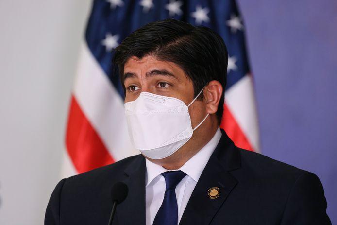 Het kantoor van president Alvarado Quesada is onderzocht.