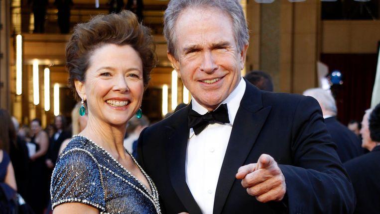 Annette Bening en haar echtgenote Warren Beatty. Beeld reuters