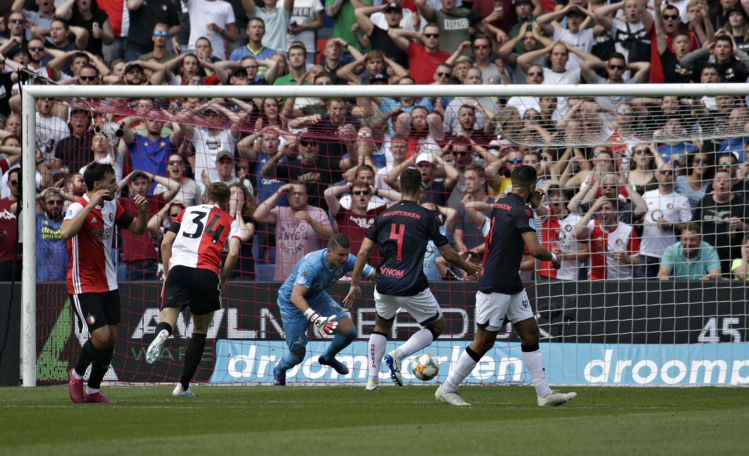 Feyenoord - Sparta in de Kuip.