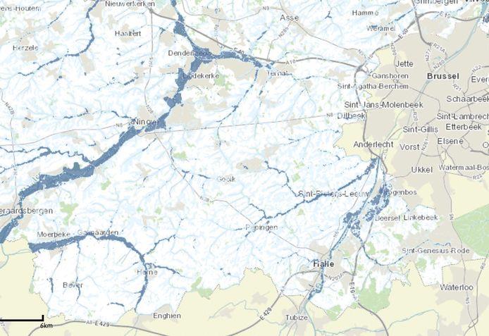 In onze regio vallen drie regio's te onderscheiden door de aanwezigheid van grote waterlopen.