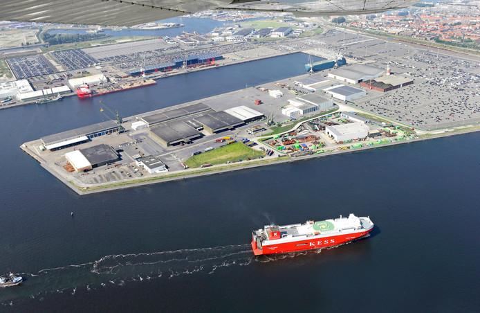 De haven van Zeebrugge