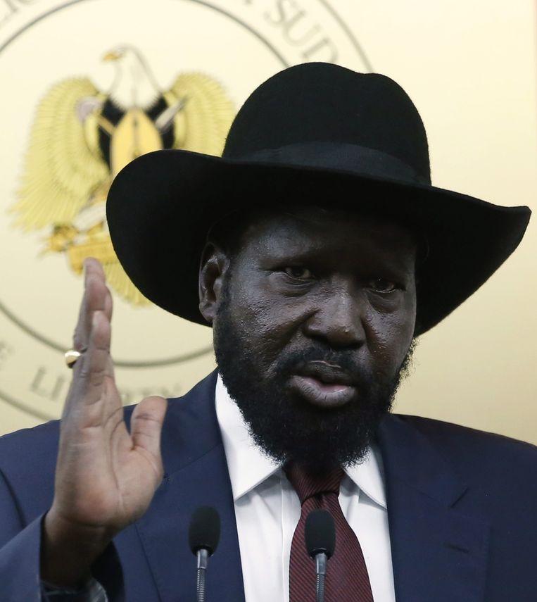 De Zuid-Soedanese president Salva Kiir. Beeld reuters