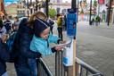 Handgel bij Plopsaland De Panne (archieffoto 1 juli 2020). De pretparken zijn al maanden verplicht dicht.