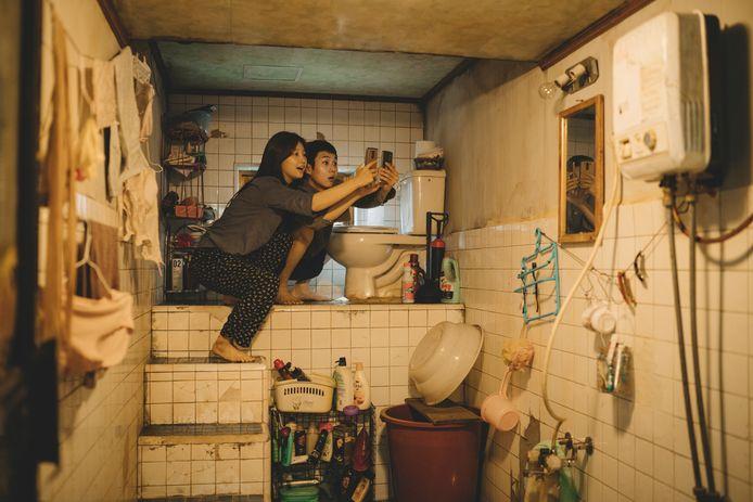 Scène uit de Zuid-Koreaanse speelfilm 'Parasite'.