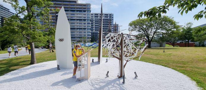 Een beeld uit het olympisch dorp.