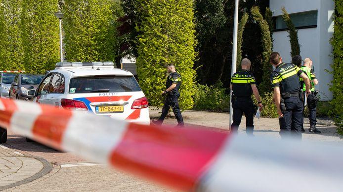 De woning van PSV-speler Eran Zahavi na de overval.