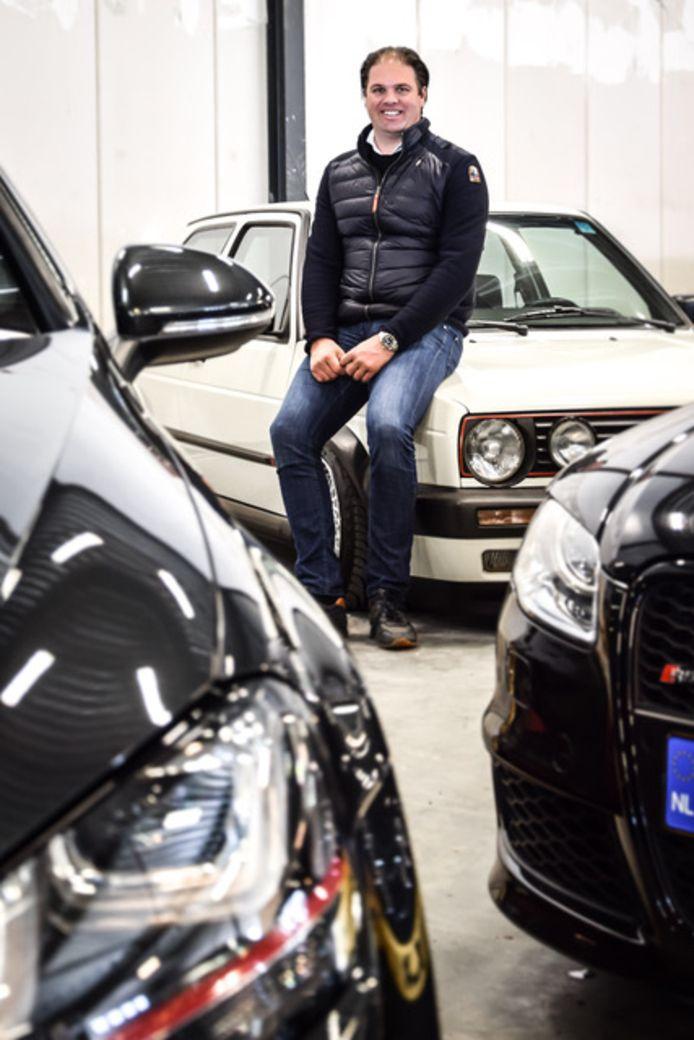 Eindhovense autohandelaar Marc Hamilton kan weer opgelucht lachen na de vondst van zijn gestolen Audi SQ5.