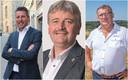 Burgemeesters Kris Poelaert, Patrick Decat en Dirk Willem.