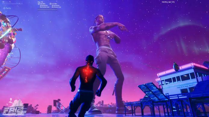 Travis Scott gaf in de nacht van donderdag op vrijdag zijn eerste virtuele concert in Fortnite.1