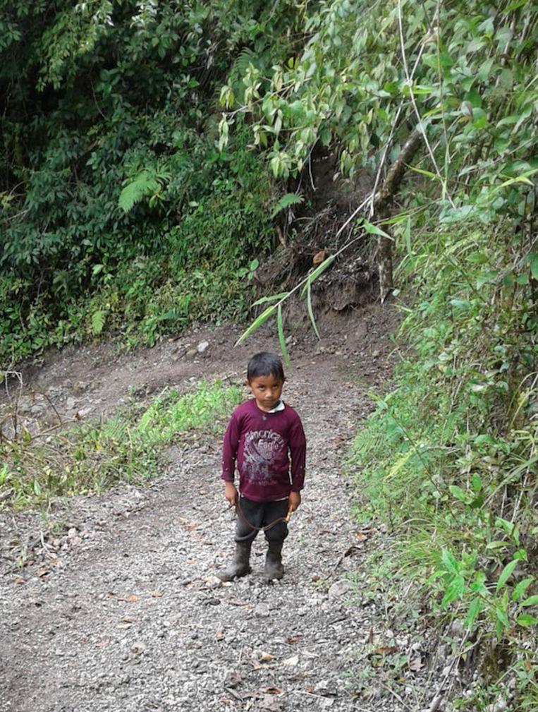 Een foto van Felipe, toen hij 7 jaar was.