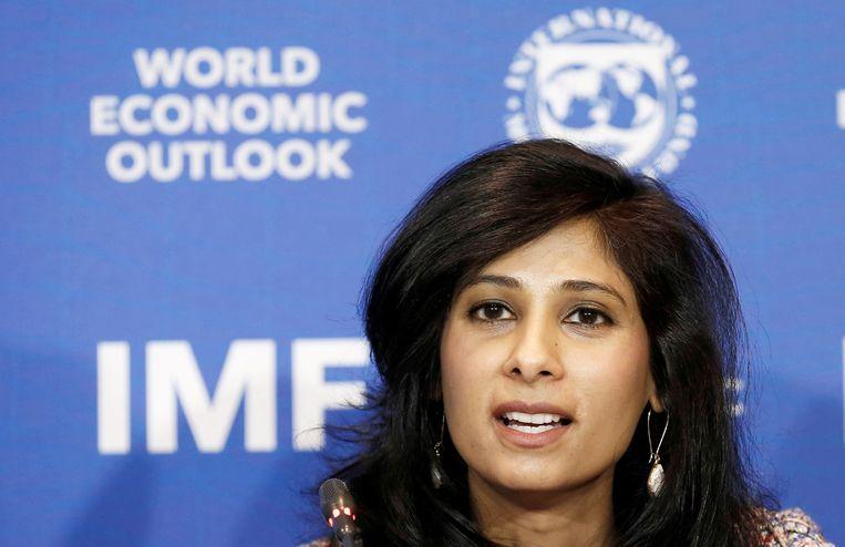 IMF-hoofdeconoom Gita Gopinath. Beeld REUTERS