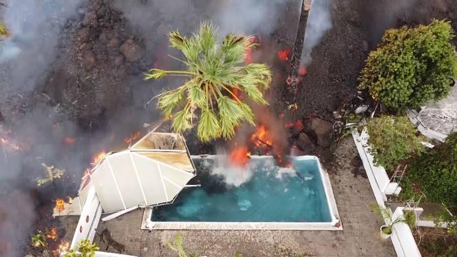 Éruption aux Canaries: les images saisissantes des coulées de lave dans une piscine