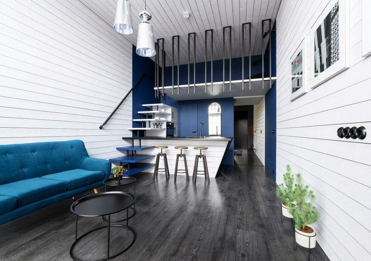 Blauw in je interieur en wonen op beperkte oppervlakte horen bij de woontrends van 2020.
