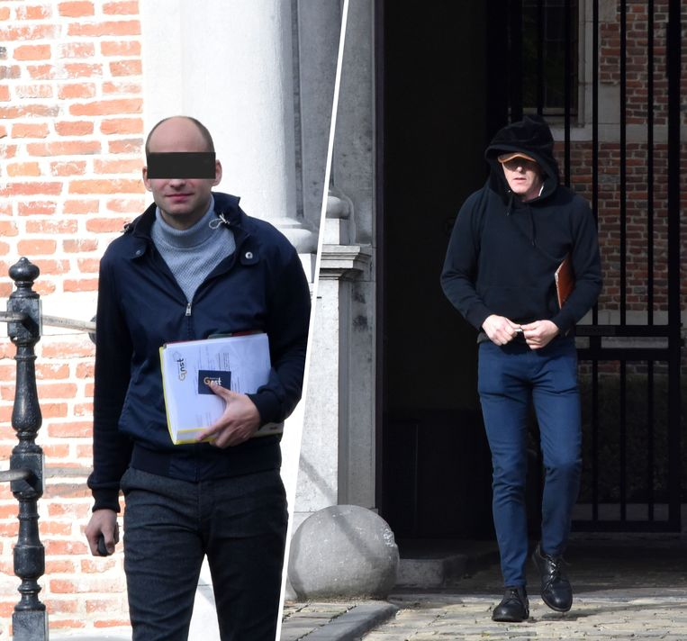 Geert H. (rechts) en zijn ex-partner Jan V.D.B. die toekeek tijdens de verkrachting.