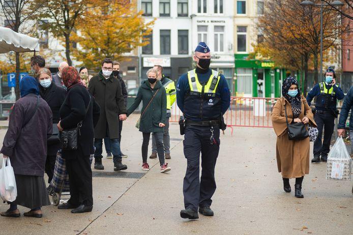 Illustratiebeeld: De politie op het Sint-Jansplein.