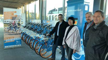 Voortaan kunnen pendelaars Blue Bikes lenen aan station