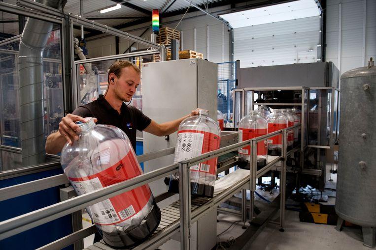 De Keykeg; een gerecyclede plastic bierfust.   Beeld Olaf Kraak
