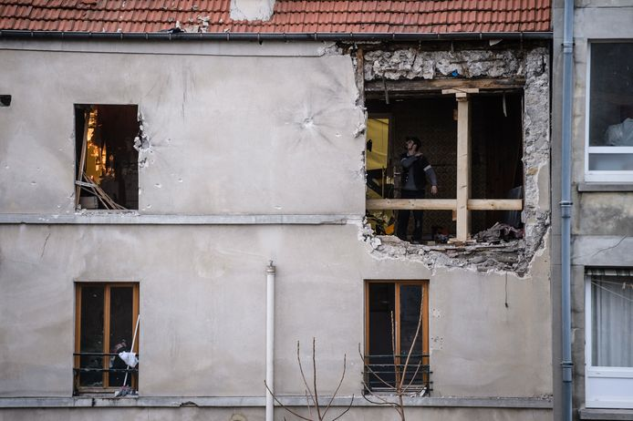 Het appartement van Bendaoud waar Abdelhamid Abaaoud stierf bij de politie-inval in Saint-Denis.