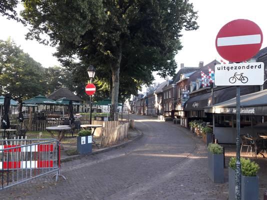 Afsluiting van de Hoge Zij in Hilvarenbeek aan de kant van de horeca