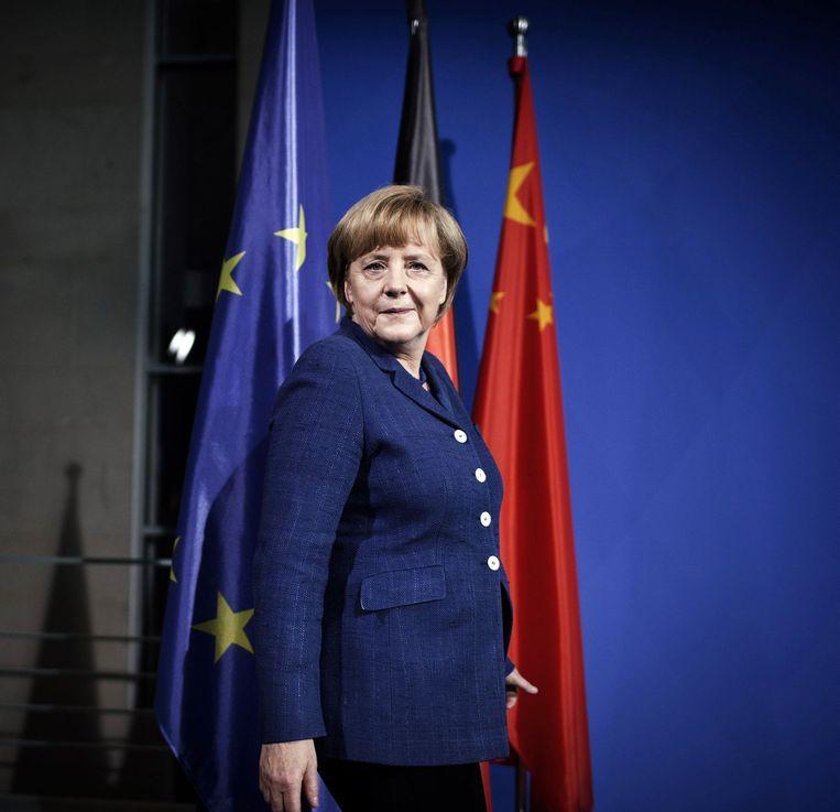 Angela Merkel, 'kanselier van de vrije wereld'.