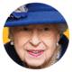 Queen Elizabeth haalt de wandelstok boven