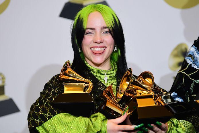 Billie Eilish won eerder dit jaar vijf prestigieuze Grammy's.