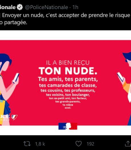 Le tweet de la police française au sujet du sexting passe mal