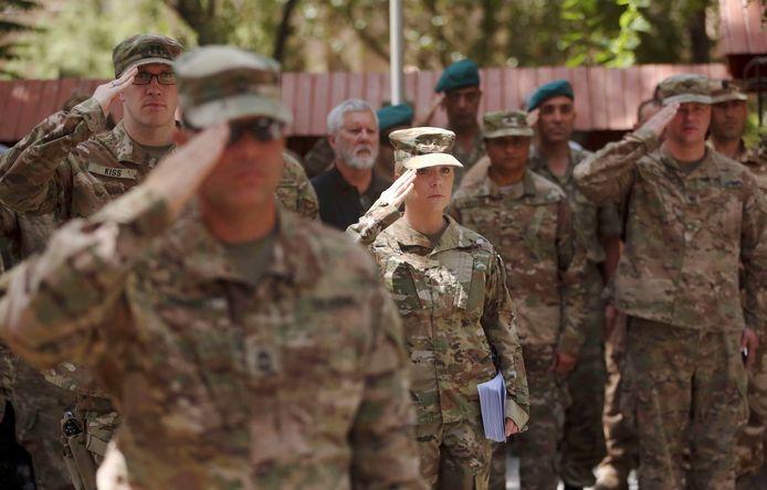 Amerikaanse soldaten in Kabul.