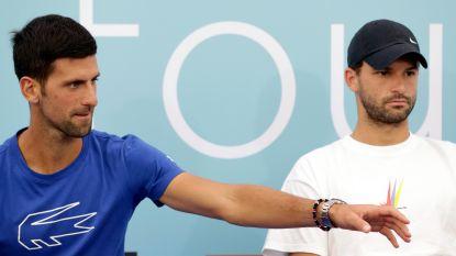 Grigor Dimitrov, die besmet raakte tijdens toernooi van Djokovic, is verlost van corona