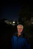 Rien Voets uit Deurne strijdt tegen donkerte in zijn wijk Koolhof in Deurne.