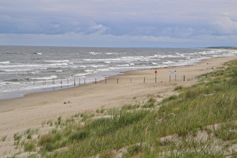 Een Pools gedeelte van de landtong die de Oostzee scheidt van het Wijsselhaf.