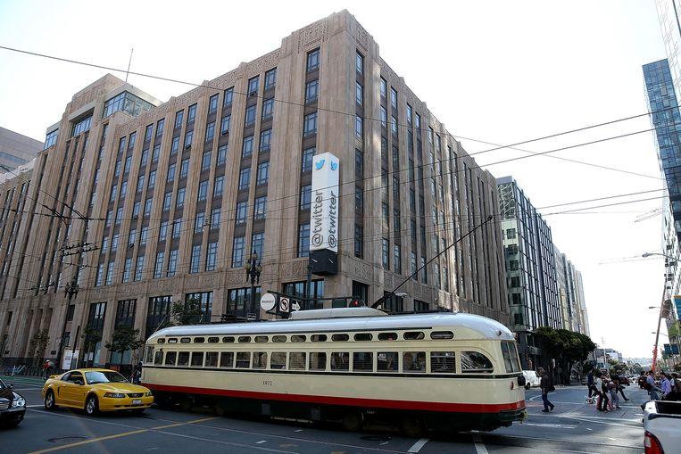 Het hoofdkwartier van Twitter. Beeld Getty Images
