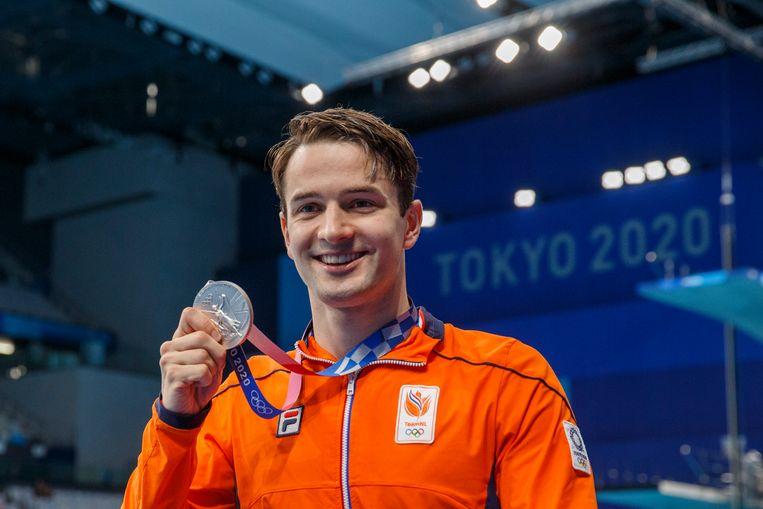 Arno Kamminga met zijn tweede zilveren plak. Beeld EPA