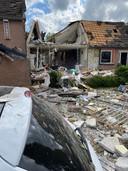 Ravage in de Nijmeegse Hillekensacker door een explosie in een woning.