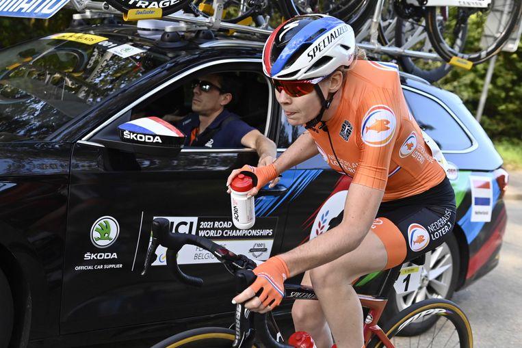 Anna van der Breggen op haar laatste dag als wielrenner. Beeld ANP