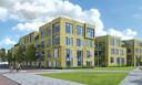 Artist impression van het nieuwe complex aan de Deurningerstraat