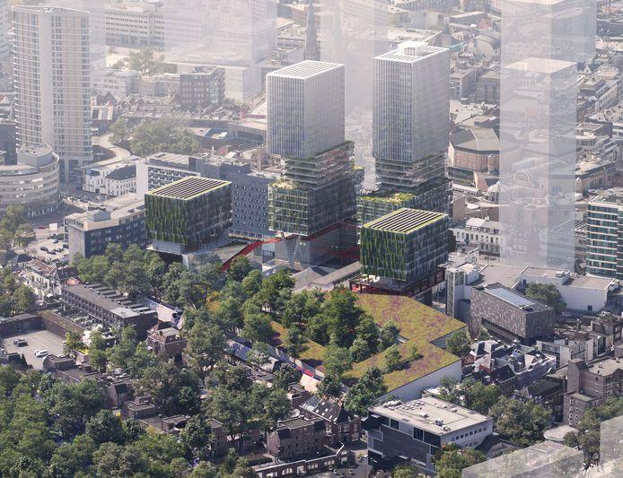 Een stadsbos is een belangrijk onderdeel van het VDMA-plan van Being Development en OMA Architecten voor het gebied aan de Vestdijk.