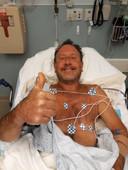 Vanuit het ziekenhuis laat Michael Packard weten dat alles oké is.