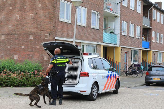 De politie kamde na het incident de omgeving uit en arresteerde een verdachte.